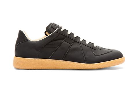 maison martin margiela sneakers maison martin margiela matte black leather replica