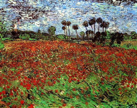Van Gogh Flowers In Vase Field With Poppies Vincent Van Gogh Wikiart Org