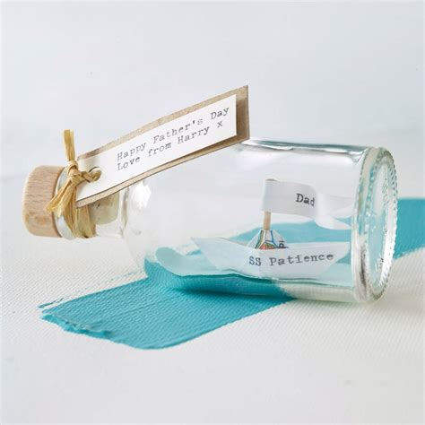 Personalised Handmade Gifts - personalised handmade paper ship in a bottle by made in