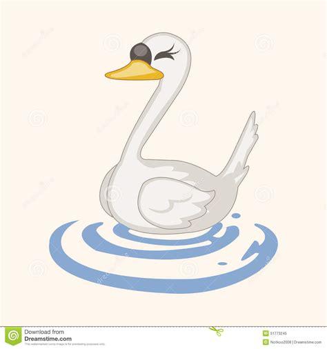 cartoon themes vector bird swan cartoon theme elements vector eps stock vector