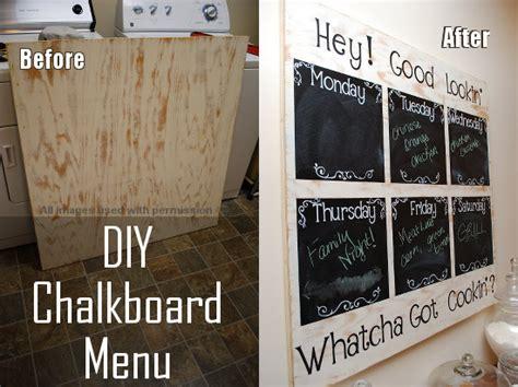 diy chalkboard diy chalkboard menu planning project idea