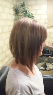 inverted shoulder length bob haircut long inverted bob brown with caramel highlights shoulder