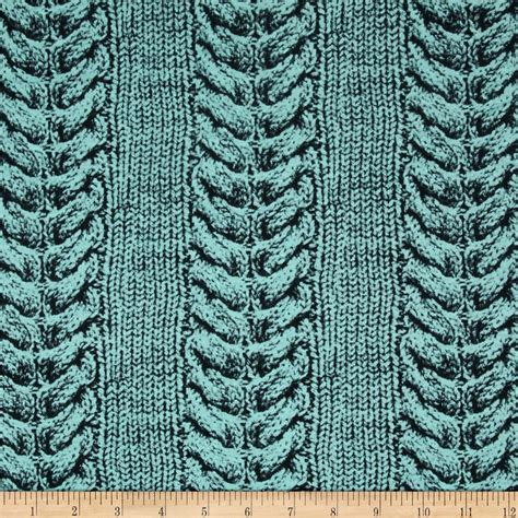 cheap patterned jersey jersey knit printed cable stitch aqua discount designer