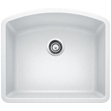 white undermount single bowl kitchen sink blanco undermount granite composite 24 in single