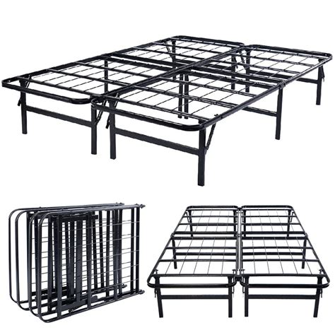 Height Of Bed Frame 14 Quot Height Base Platform Metal Bed Frame Mattress Foundation Goplus 5 Size Ebay