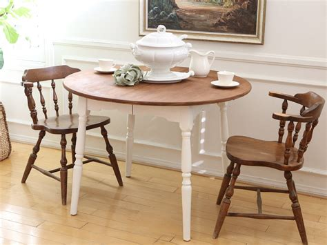 shabby chic vintage solid wood dining table with 2 chairs no 358 shopgoldenpineapple