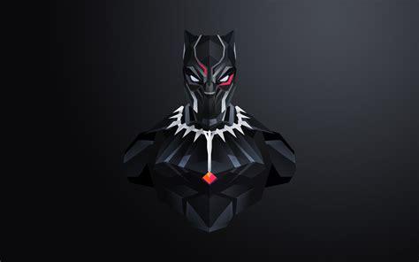 wallpaper black panther minimal  creative graphics