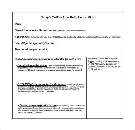 doe lesson plan template sle unit lesson plan 9 exle format