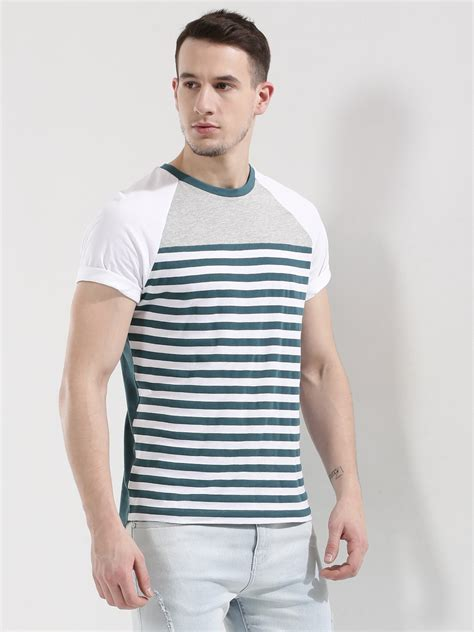 And Stripe Raglan Tshirt buy koovs stripe raglan t shirt for s green