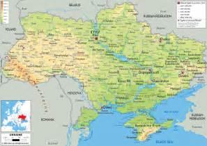 physical map of ukraine ezilon maps