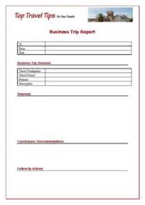 Sales Trip Report Template business trip report template business travel top