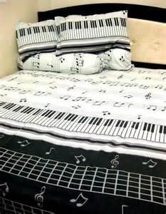 Musical Bedding Sets Piano Keyboard Bed Set Great Gifts Piano Sheet And Keyboard Piano
