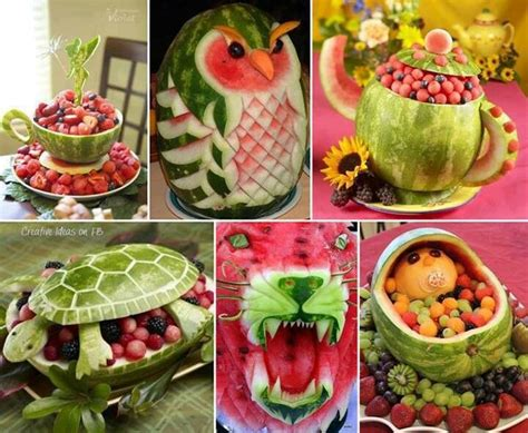 Watermelon creations | Food, Desserts, & Drinks ... Watermelon Carving Ideas
