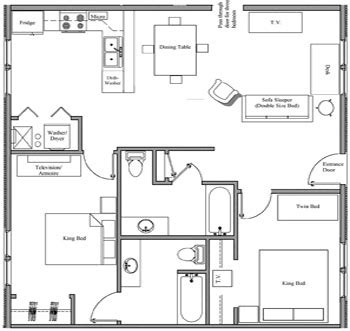 room lay out 2 bedroom handicap accessible villa nauvoo villas