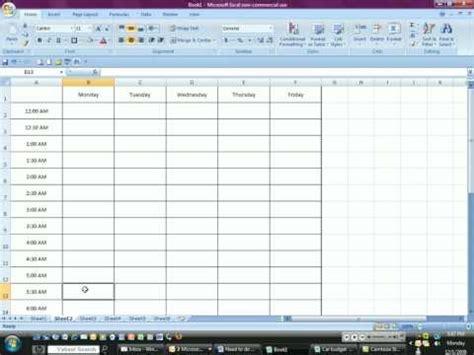 nursing schedule template 7 free word excel pdf format