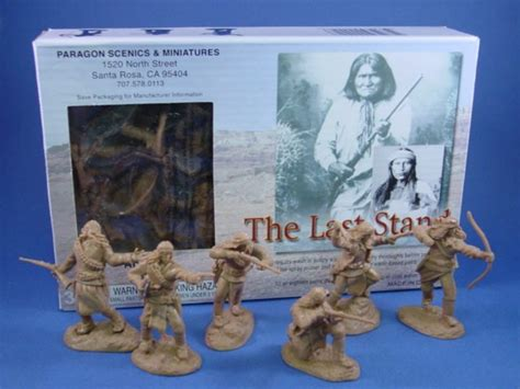 paragon toy soldiers mm  stand apache indians