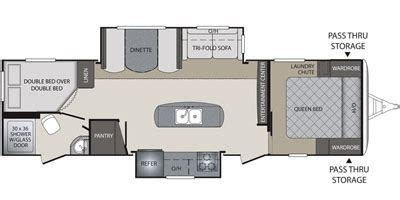 bullet travel trailer floor plans 2016 keystone rv bullet premier series m 29 bhpr specs and standard equipment nadaguides