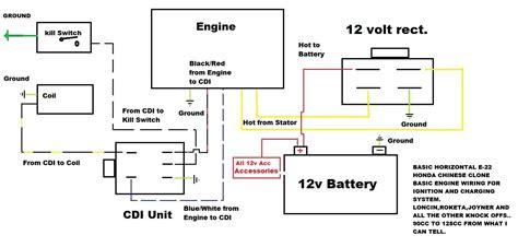 tao tao cc  kart  wire cdi wiring diagram