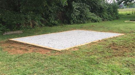 shed foundation blocks   good idea site preparations