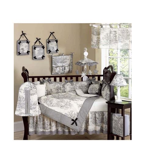 Toile Crib Bedding Sets by Sweet Jojo Designs Toile 9 Crib Bedding Set
