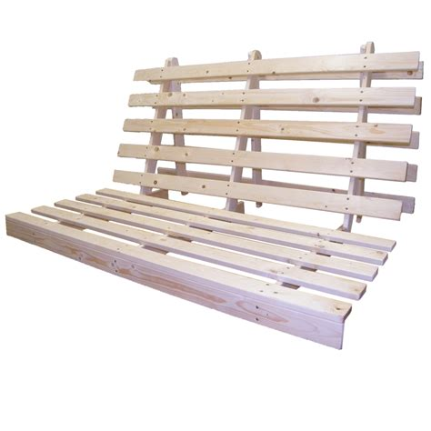 Wood Futon Frame Only Wooden Futon Bed Base Wood Sofabed Seat Frame In 3 Sizes