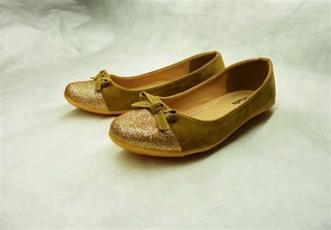 Flat Pita Suede suede glitter flat shoe bs 17 isrin and okada grosir