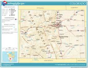 geographic map of colorado united states geography for colorado
