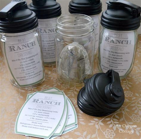 printable salad in jar recipes ranch salad dressing mason jar gift