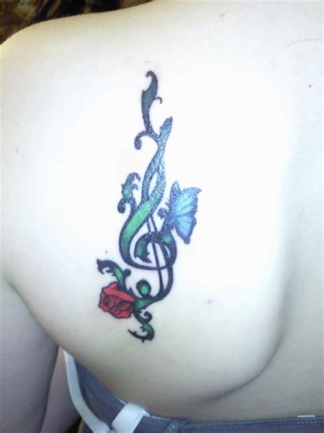 treble clef with rose tattoo treble clef by angelcakes90 on deviantart