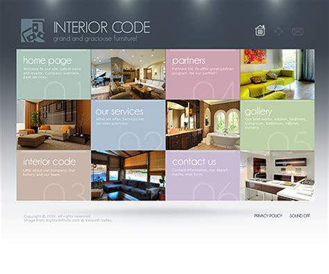interior design gallery flash template best website