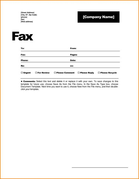 Microsoft Office Fax Cover Sheet Template Portablegasgrillweber Com Microsoft Office Fax Template