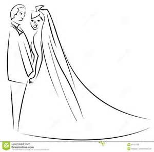 just married couple cartoon vector stock vector image