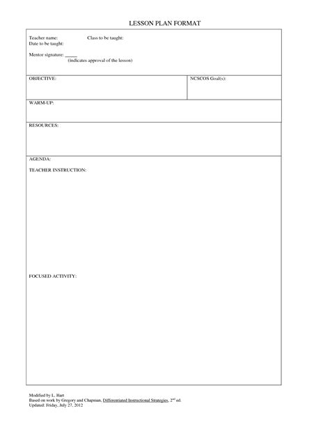 madeline hunter lesson plan template word 6 popular