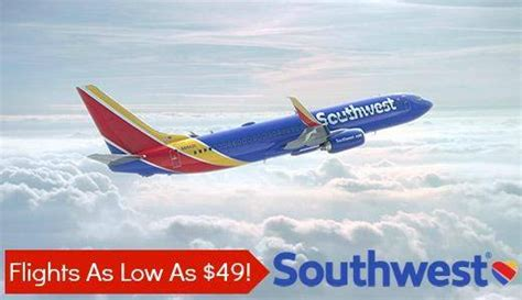 southwest airlines flights deals one way flights as low as 49