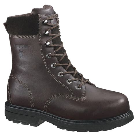 s wolverine 8 quot cannonsburg steel toe eh work boots