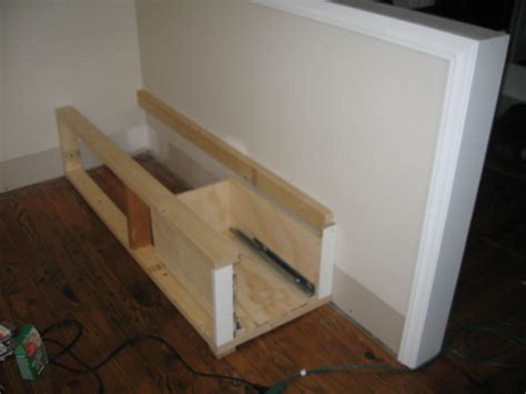 how to build a banquette with storage building the banquette frame jill carson