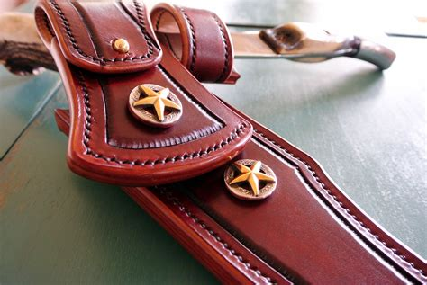 Handmade Leather Knife Sheaths - handmade custom leather knife sheath by strong