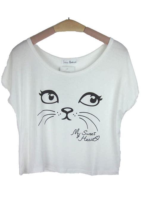 shirt catty catty pattern t shirt in white fcbi00460