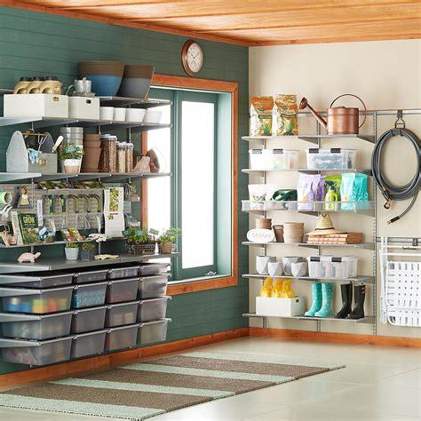 Garage Storage Elfa Platinum Elfa Utility Garage The Container Store