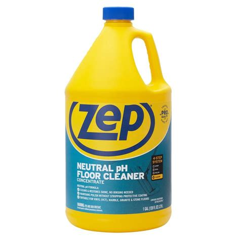 ph neutral floor cleaner for terrazzo floors shop zep commercial neutral floor cleaner concentrate 128