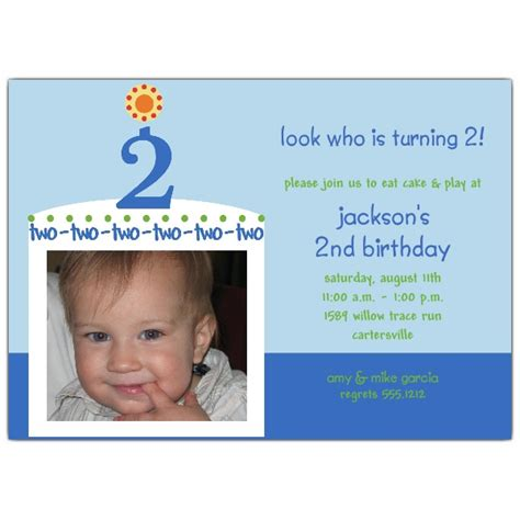 birthday invitation wording boy birthday cake boy photo second birthday invitations