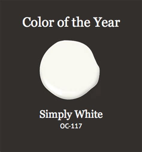 benjamin color of the year 2016 simply white 2016 color of the year