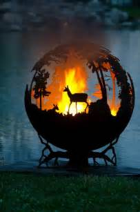 Globe Fire Pit by Forest Fire Pit By Melissa Crisp My Modern Met