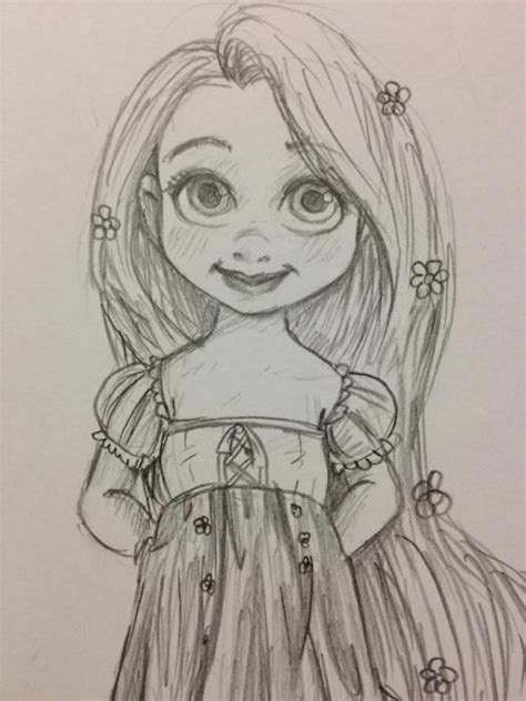 disney princess rapunzel cartoon drawings baby rapunzel sketch google search sketches