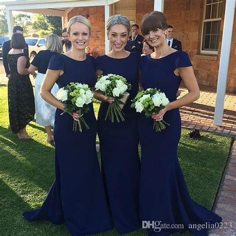 Navy Bridesmaid Dress by Best 25 Bridesmaid Dresses With Sleeves Ideas Only On
