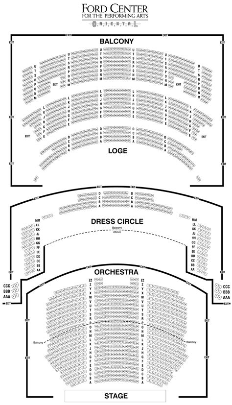 chicago theater floor plan oriental theater chicago map