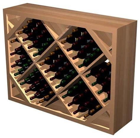diamond bin wooden wine rack rustic pine light stain contemporary wine racks by shopladder