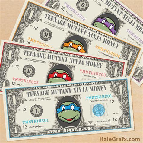make your own printable fake money free printable tmnt ninja turtles play money