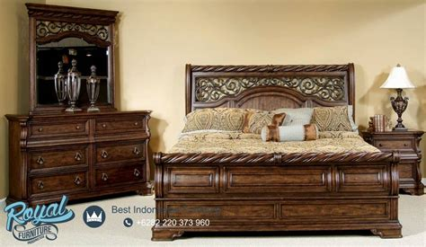 fantastic solid wood bedroom set jati klasik terbaru royal furniture jepara