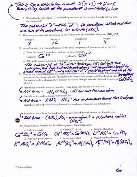 Naming Polyatomic Ions Worksheet by Polyatomic Ions Worksheet Free Worksheets Library